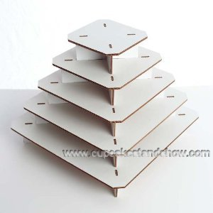 Square Corrugated Cupcake Display Stand