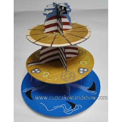 Original Pirate Ship Cardboard Cupcake Stand