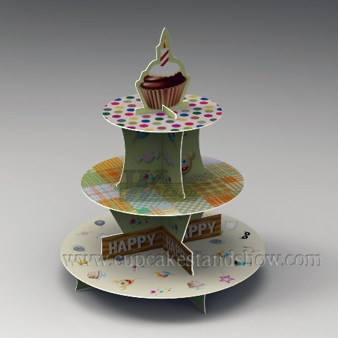 Original Design Cardboard Cupcake Tier Display Stand to Celebrate Halloween