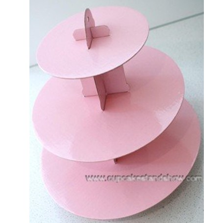 Pale Pink Cardboard Cupcake Stand