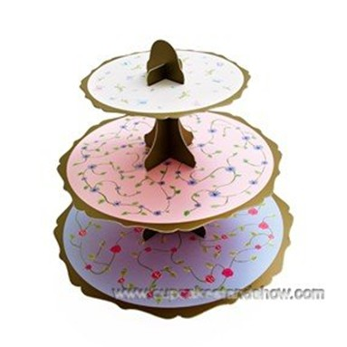 Floral Tea Party Cupcake Stand