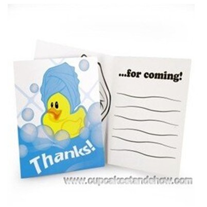 Ducky Thank -You Notes Invitation Cards