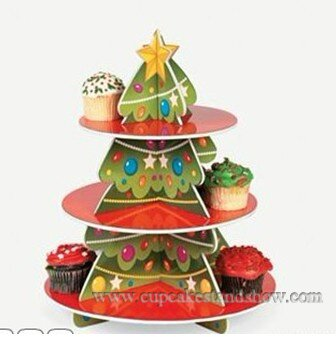 Christmas Party Cupcake Stand