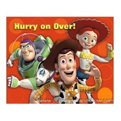 Toy Story 3 Invitation Cards