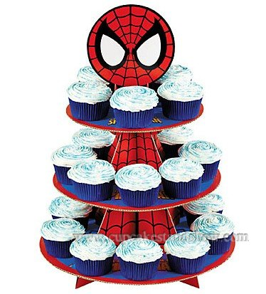 Spiderman Cupcake Stand for Kids