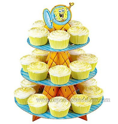 SpongeBob Cupcake Stand for Kids