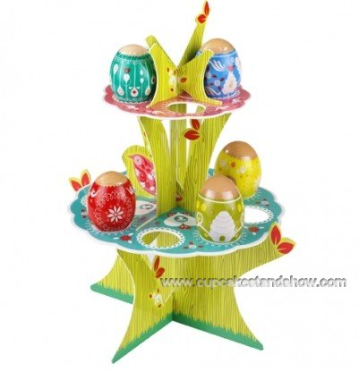 Cardboard 2-Tier Easter Eggs Stand