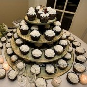Map Design Cupcake Stand for Party