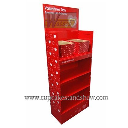 Valentines Day Gift Cardboard Display Stand