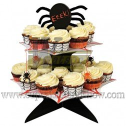 Halloween Theme Party Cardboard Cupcake Stand