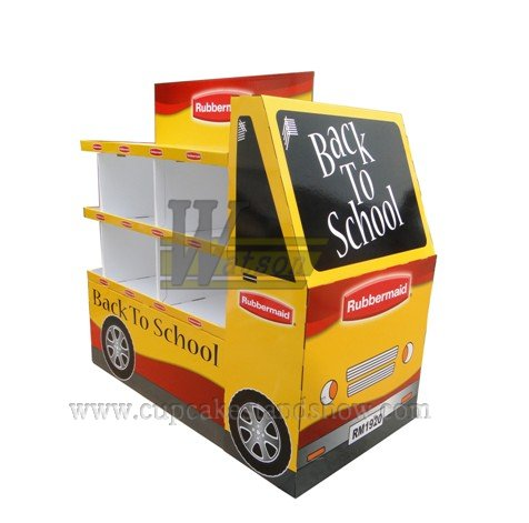 Back to School Bus Cardboard Display Stand